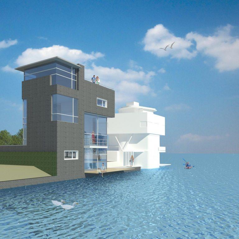 Woning kavel A4 vanaf het water